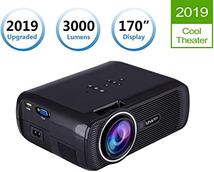 "$79 Get TOPRUI LCD LED Light 3000 Lumens Mini Video Projector Portable Home Theater,170"" Display Support HD 1080P for Outdoor Movie Night, Family Entertainment, Compatible with Phone DVD Player HDMI USB SD"