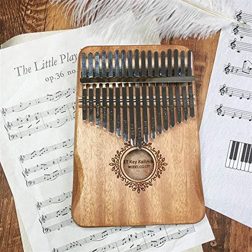 Kalimba, Daumenklavier 17 Keys Kalimba Daumenklavier Mahagoni Korpus Musikinstrument Bull Kalimba Music Box (Color : Burgundy)