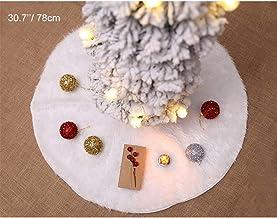 Andiker Weihnachtsbaum Rock weiß, schneeweiß Kunstpelz Tannenbaum Rock Basisabdeckung, Bodenmatte Abdeckung, Neujahr Party...