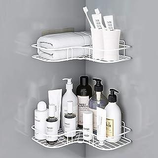AnnBay 2-Pack Corner Shower Caddy, Stainless Steel Wall Mounted Storage Organizer Racks for Shower, Toilet, Bathtub, Dorm ...