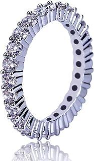 Moca Jewelry Anello Hip-Hop con Diamanti Simulati in Oro 18 carati con zirconi placcati in Oro Bling con Diamante simulato...