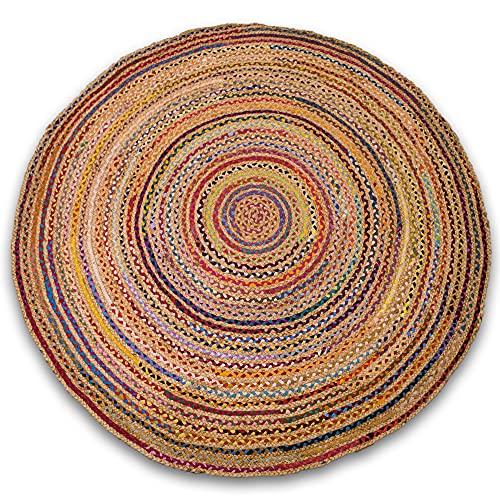 LAMARE Alfombra Kul - 160cm de diámetro - 60% Yute 40% algodón