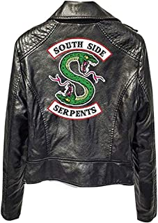 River Dale Southside Serpents Short Jacket Vest with Faux Leather, Casual Printing Coat