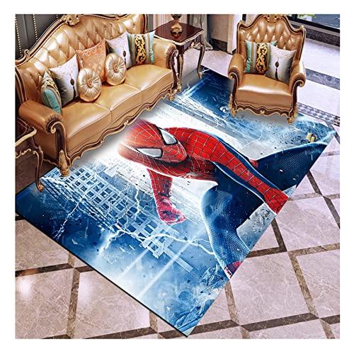 Duvets Marvel Avengers Spiderman Tapis De Salon Dessin Animé Enfants Tapis,Garçon Chambre Tapis,Tapis De Sol Antidérapant Tapis De Sol Antidérapant Cadeau De Dessin Animé 160x230 CM