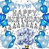 誕生日 飾り付け 風船 Happy Birthday バルーン パーティー 装飾 RunTure バースデー デコレーション セット きらきら風船 パーティー お祝い ブルー