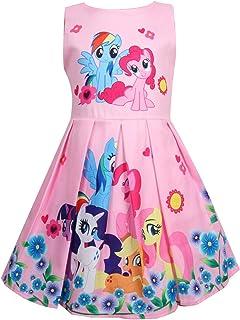 Girls Unicorn Birthday Party Dress Costumes Fancy Dress up