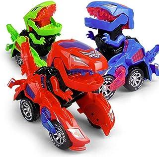 Royu Transforming Dinosaur LED Car Dinosaur Transform Car Toy Automatic Dinosaur Dinosaur Deformation Toy