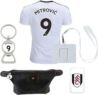 PreLEA Fulham F.C. #9 Mitrovic 2018/2019 Home Mens Soccer Jersey Color White (Small)