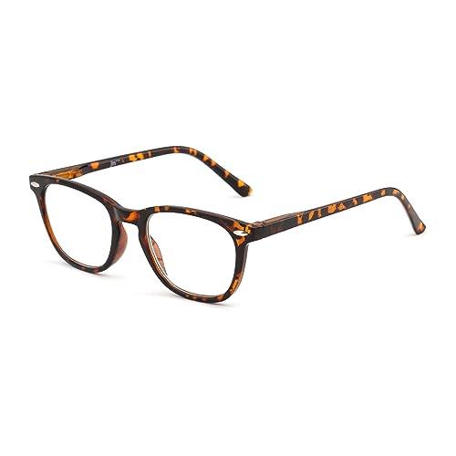 505b9bb69fa Retro Reading Glasses Spring Hinge Tortoiseshell Eyeglasses Readers Men  Women Eyewear for Reading