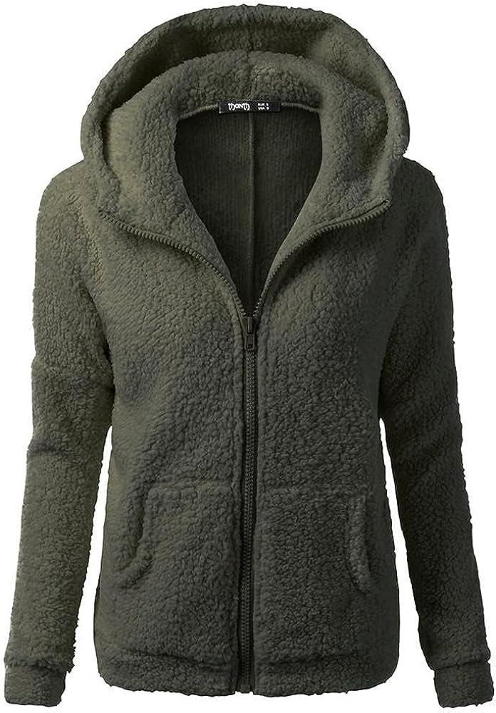 Women's Plus Size Wool Coats Hooded Trench Winter Warm Thicken Fleece Lined Jackets Parka Coat Long Overcoat Outwear
