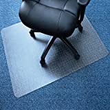 Marvelux 30' x 48' Vinyl (PVC) Rectangular Chair Mat for Very Low Pile Carpets | Transparent | Multiple Sizes