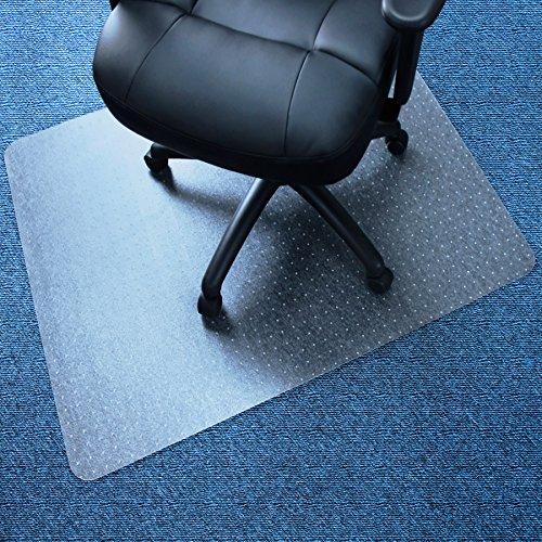 Marvelux 48x60' Vinyl (PVC) Rectangular Chair Mat for Carpets | Clear