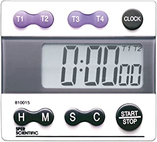 Sper Scientific 810015 Digital Count Down/Count Up Timer with Clock