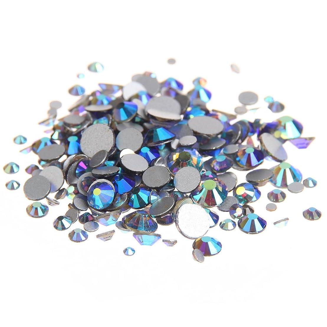 急速なキッチン省略するNizi ジュエリー ブランド ブラックダイヤモンドオーロラ ラインストーン は ガラスの材質 ネイル使用 型番ss3-ss30 (混合サイズ 1000pcs)