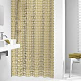 Sealskin Textil Duschvorhang Hammam, Farbe: Gold, B x H: 180 x 200 cm