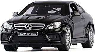 PENGJIE-Model 1:32 Mercedes-Benz C63 AMG Sedan Children's Adult Simulation Alloy Pull Back Car Model Toy Collection (Color : Black)