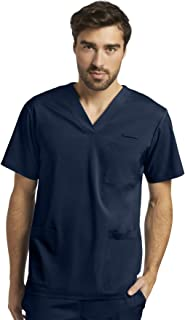 White Cross FIT Men's Athletic Styled Scrub Top