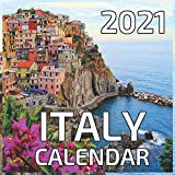 Italy 2021 Calendar: Italy 2021 - 2022 Calendar 16 Months 8.5 x 8.5 glossy paper