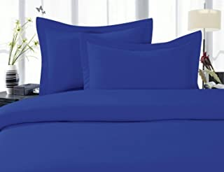 Elegant Comfort 1500 Thread Count Wrinkle,Fade and Stain Resistant 4-Piece Bed Sheet Set, Deep Pocket, Hypoallergenic - Full Royal Blue