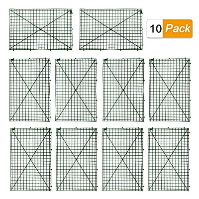 HONUTIGE 10 Pack Grid Plant Wall Frames, Plastic Frame for Flowers Wall Arches Backdrop DIY Decorative Fences Panel Wall Display for Artificial Flowers Plant Base