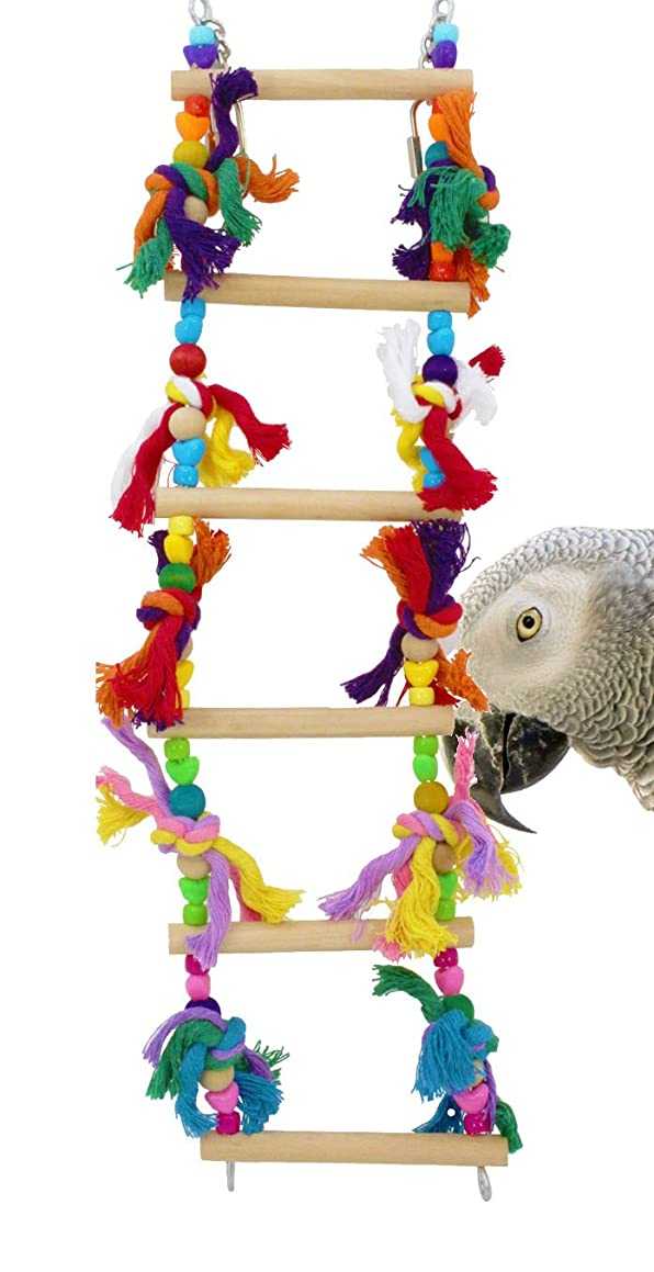 Bonka Bird Toys 835 6 Step Ladder Swing Bird Toy Cages Toys Parrot Conure Cockatiel Parakeet