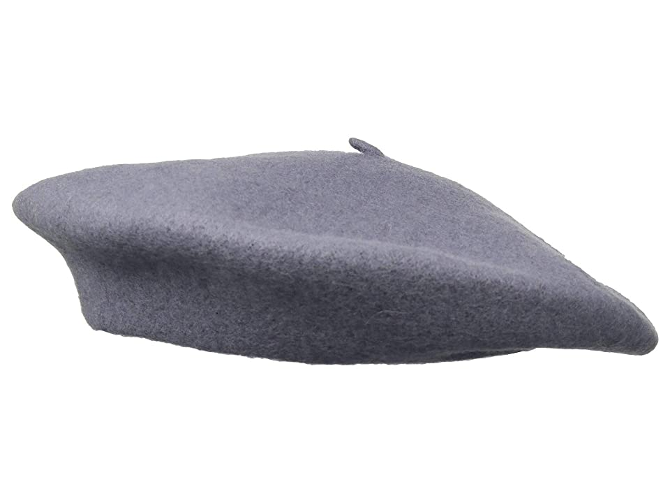 1940s Style Hats Hat Attack Wool Beret Lavender Grey Berets $32.00 AT vintagedancer.com