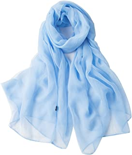 fashion folding lightweight silky scarf solid colors scarves for women oblong shawl