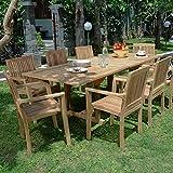 Salon de Jardin Teck Ecograde Wellington, 8 fauteuils