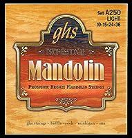 ghs ( ジーエイチエス ガス ) A250 Phosphor Bronze Mandolin Strings マンドリン弦 Light【12セット】