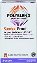 Custom Building Products 381 Polyblend Pbg 7-4 Sanded Tile Grout, Box, No Bright, Solid Powder, 7 lbs, White