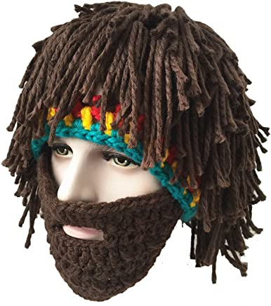 Molagogo Wig Beard Hats Rasta Bandana Dreadlocks Handmade Crocheted Women Mens Halloween Costume