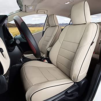 Clazzio 255331tann Tan Leather Front Row Seat Cover for Toyota Highlander