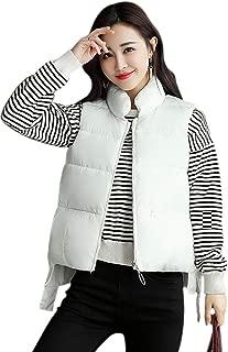 KINDOYO Women Winter Gilet - Women Quilted Zip Gilet Hooded Sleeveless High Neck Vest Jacket