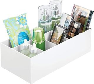 mDesign rangement cosmétiques pour lavabos ou table de maquillage – panier de salle de bain en plastique sans BPA pour le ...