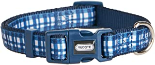 YUDOTE 10 Patterns Spring Scent Floral and Plaid Dog Collars, Adjustable Cute Puppy Collar