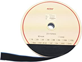 FASTECH® T0205099990225 Klittenband Om vast te plakken Acrylaat Lusdeel (l x b) 25000 mm x 50 mm Zwart 25 m
