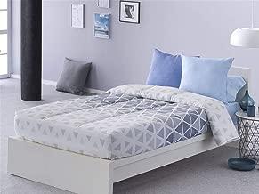 Sansa - Edredón Ajustable Kansas Cama 90 - Color Azul