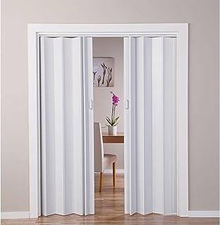 With Oak - Puerta doble efecto plegable, color blanco (