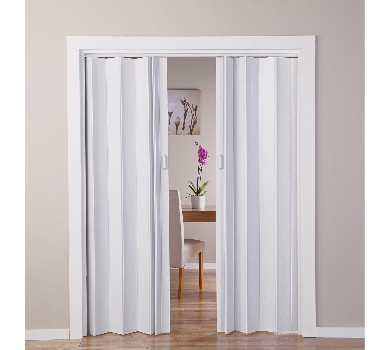 With Oak - Puerta doble efecto plegable, color blanco (770045422 ...