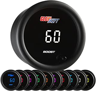 for Diesel Trucks Blue LED Illuminated Dial Includes Electronic Pressure Sensor 2-1//16 52mm White Gauge Face Analog /& Digital Readouts MaxTow Double Vision 60 PSI Turbo Boost Gauge Kit