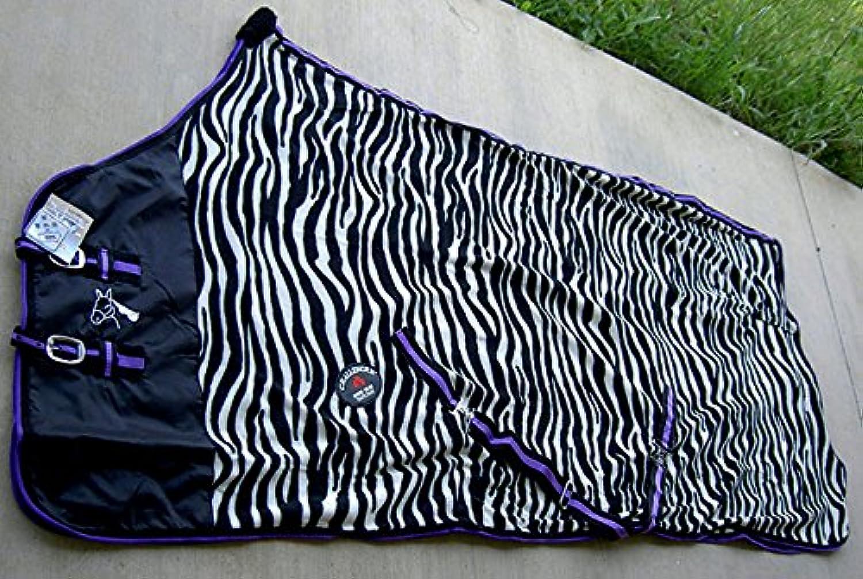Challenger Horsewear 80  Horse Exercise Sheet Polar Fleece Cooler Blanket Wicks Moisture Zebra 4348