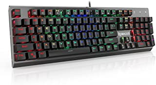 Redragon K570 PARTRYUSA RGB Backlit Mechanical Gaming Keyboard, Blue Switch, Gunmetal Solid Aluminum Base,104 Keys Anti-ghosting