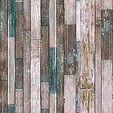 10606 Wood Texture Wallpaper Rolls,Brown/Tan Faux Wood Plank Wallpaper Murals Home Kitchen Bedroom Living Room Decoration 20.8' x 32.8ft
