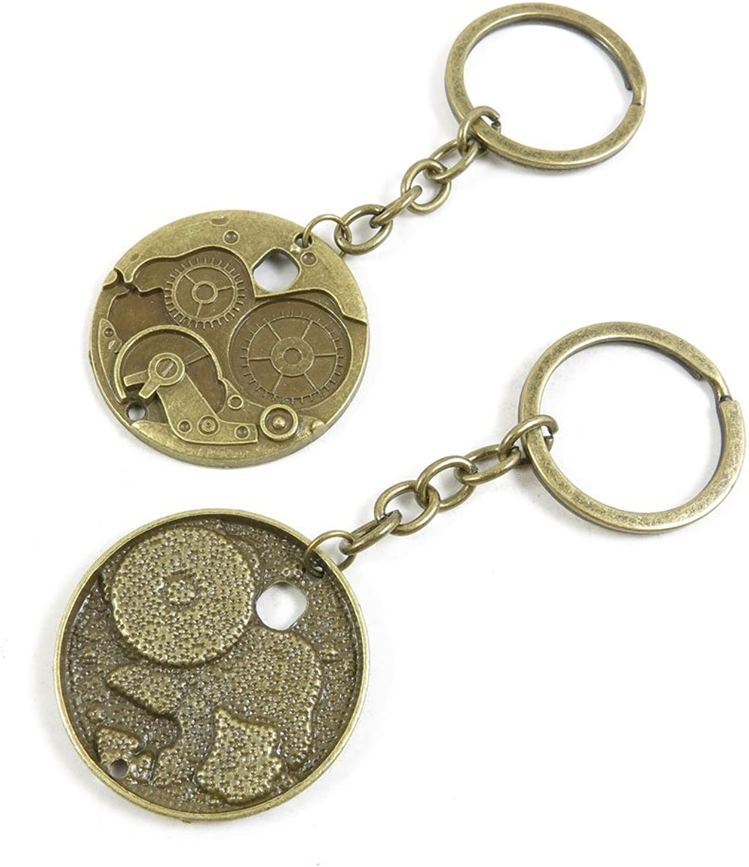 110 Pieces Fashion Jewelry Keyring Keychain Door Car Key Tag Ring Chain Supplier Supply Wholesale Bulk Lots C4KS1 Watch Gear Cog Steampunk
