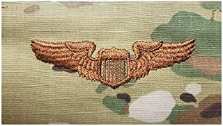 US Air Force Pilot Basic OCP Spice Brown Badge