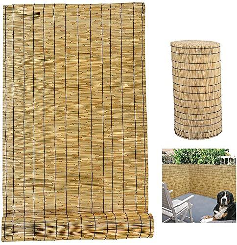 Schermo di screening della recinzione a lamella, recinto di canna naturale, parete di screening della rottura del vento ridollo 3-10m Rotolo, rivestimento di bambù Pannello di privacy Rotolo per giard