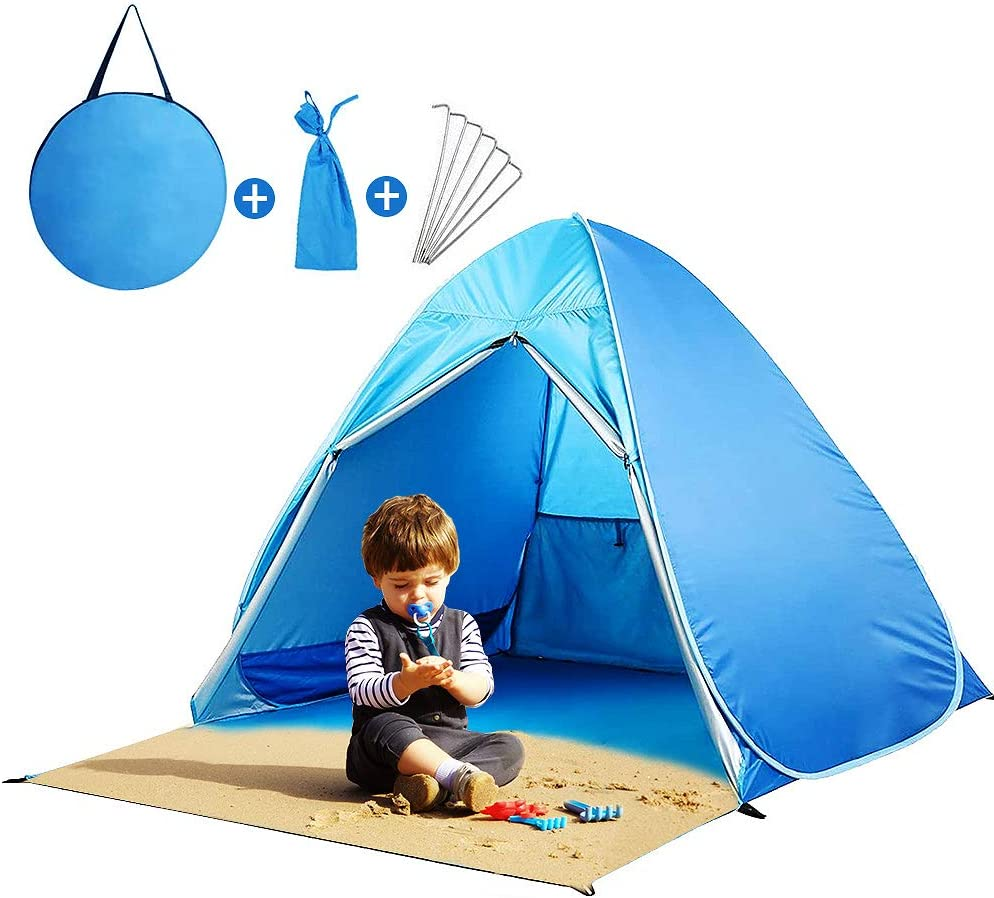 Pop Up Tent with Zipper Door Shelter Sun NEW before selling ☆ 1 year warranty That Family C