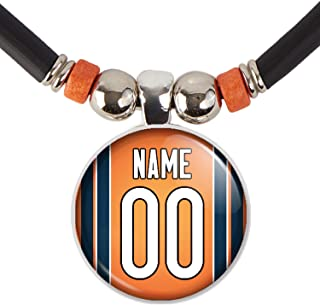 Customized Chicago Football Jersey Necklace with Your Name and Number, By SpotlightJewels