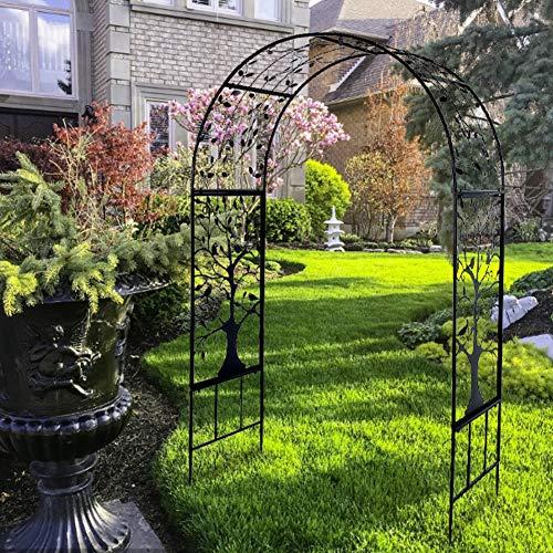 GOTOTOP Pérgola de jardín de arco para plantas trepadoras para la ceremonia nupcial del Partido del Patio del Prado Inglés del Patio Decora 214 x 138 x 58 cm