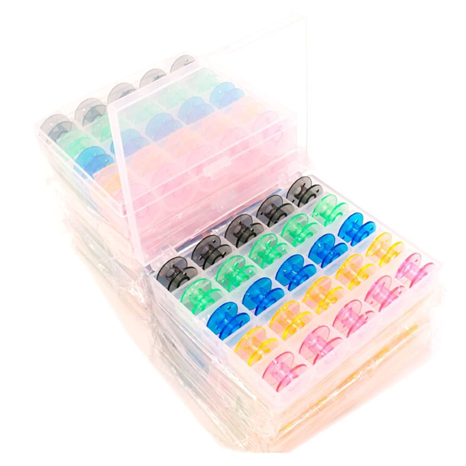 X-group Multi-Colour Style SA156 Sewing Machine Bobbins for Brother 25 Pack